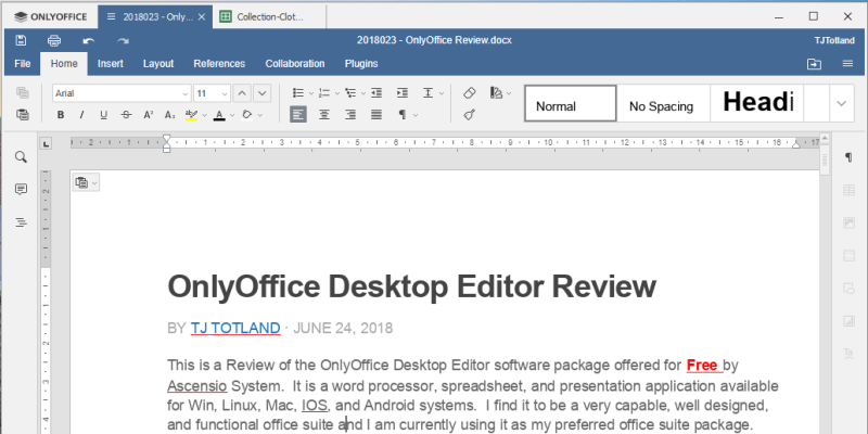 OnlyOffice Free Desktop Editor Review
